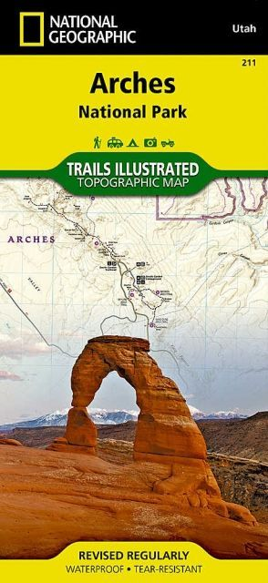 photo: National Geographic Arches National Park Map us mountain states paper map