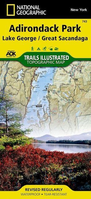 National Geographic Lake George/Great Sacandaga Map - Adirondack National Park