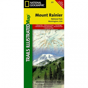 National Geographic Mount Rainier National Park Map