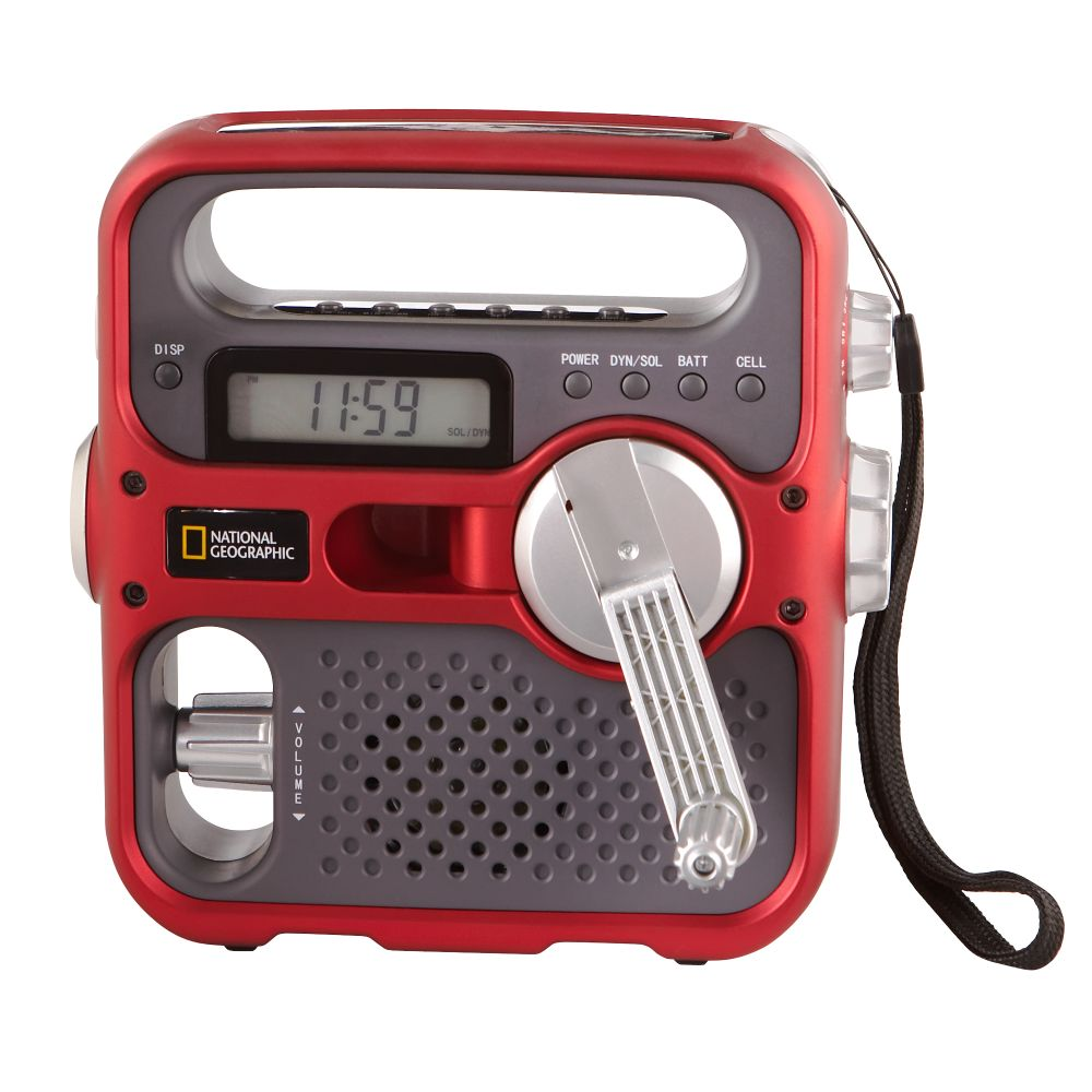 National Geographic Solar- and Self-powered Shortwave Radio