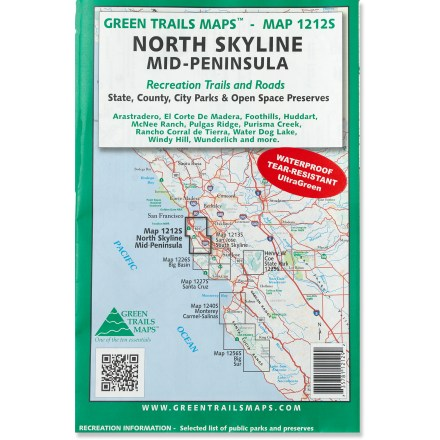 Green Trails Maps North Skyline Mid-Peninsula Map
