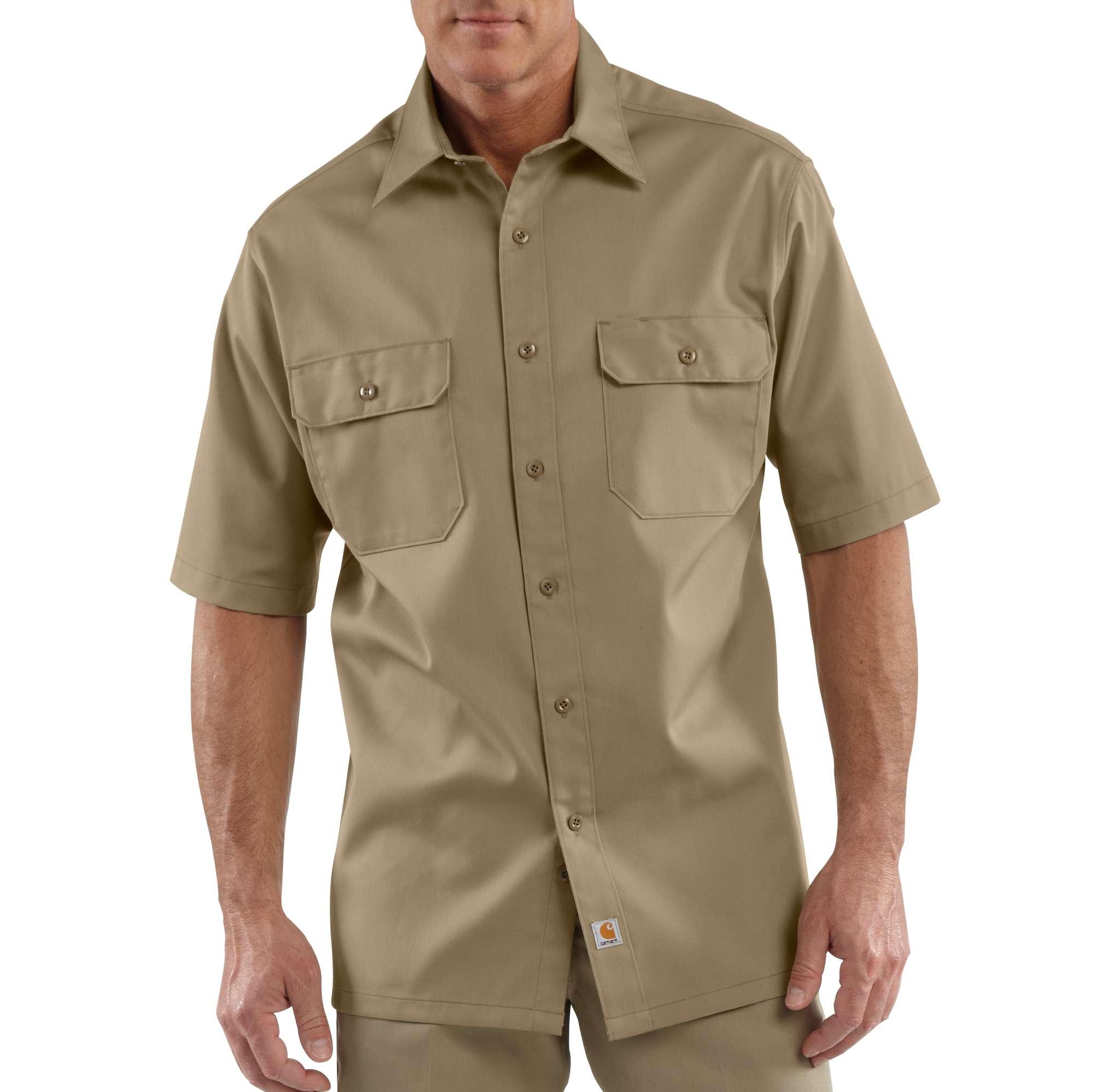 Carhartt Short-Sleeve Twill Work Shirt