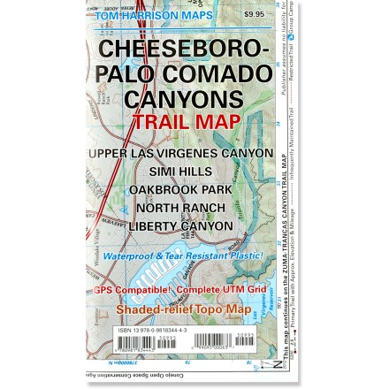 Tom Harrison Maps Cheeseboro - Palo Comado Canyons Trail Map