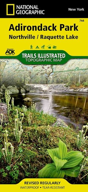 National Geographic Northville/Raquette Lake Map - Adirondack National Park