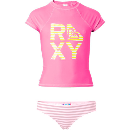 photo: Roxy Sandcastle Stripe Rashguard short sleeve rashguard