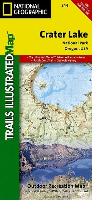 photo: National Geographic Crater Lake National Park Map us pacific states paper map