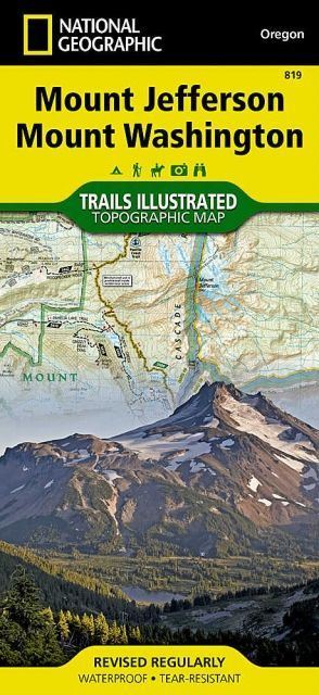National Geographic Mount Jefferson / Mount Washington Trail Map