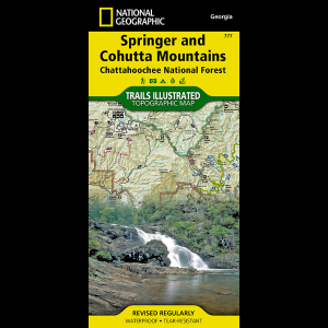 photo: National Geographic Springer and Cohutta Mountains Trail Map us south paper map
