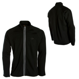 photo: Icebreaker Men's EXP 320 Raven Zip Thru long sleeve performance top