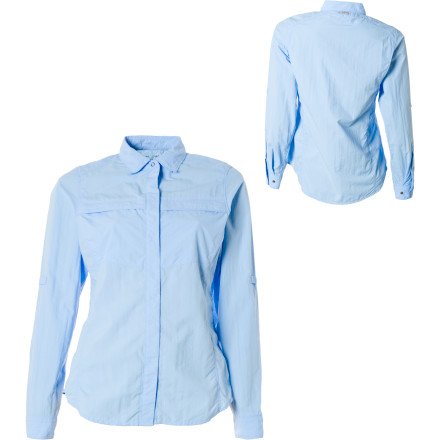 photo: ExOfficio Women's BugsAway Halo Long-Sleeve Shirt hiking shirt