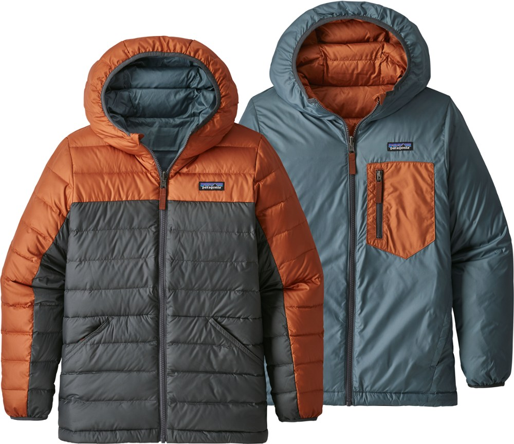 photo: Patagonia Reversible Down Sweater Hoody down insulated jacket