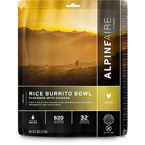 AlpineAire Foods Rice Burrito Bowl with Chicken