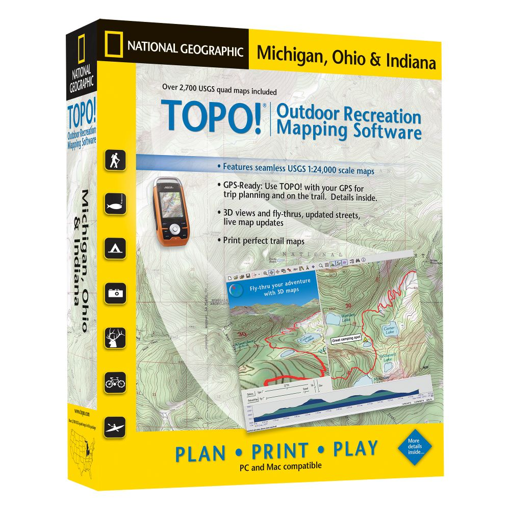 photo: National Geographic TOPO! Michigan, Ohio & Indiana CD-ROM us midwest map application
