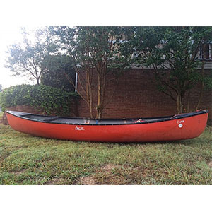 photo of a Dagger whitewater canoe