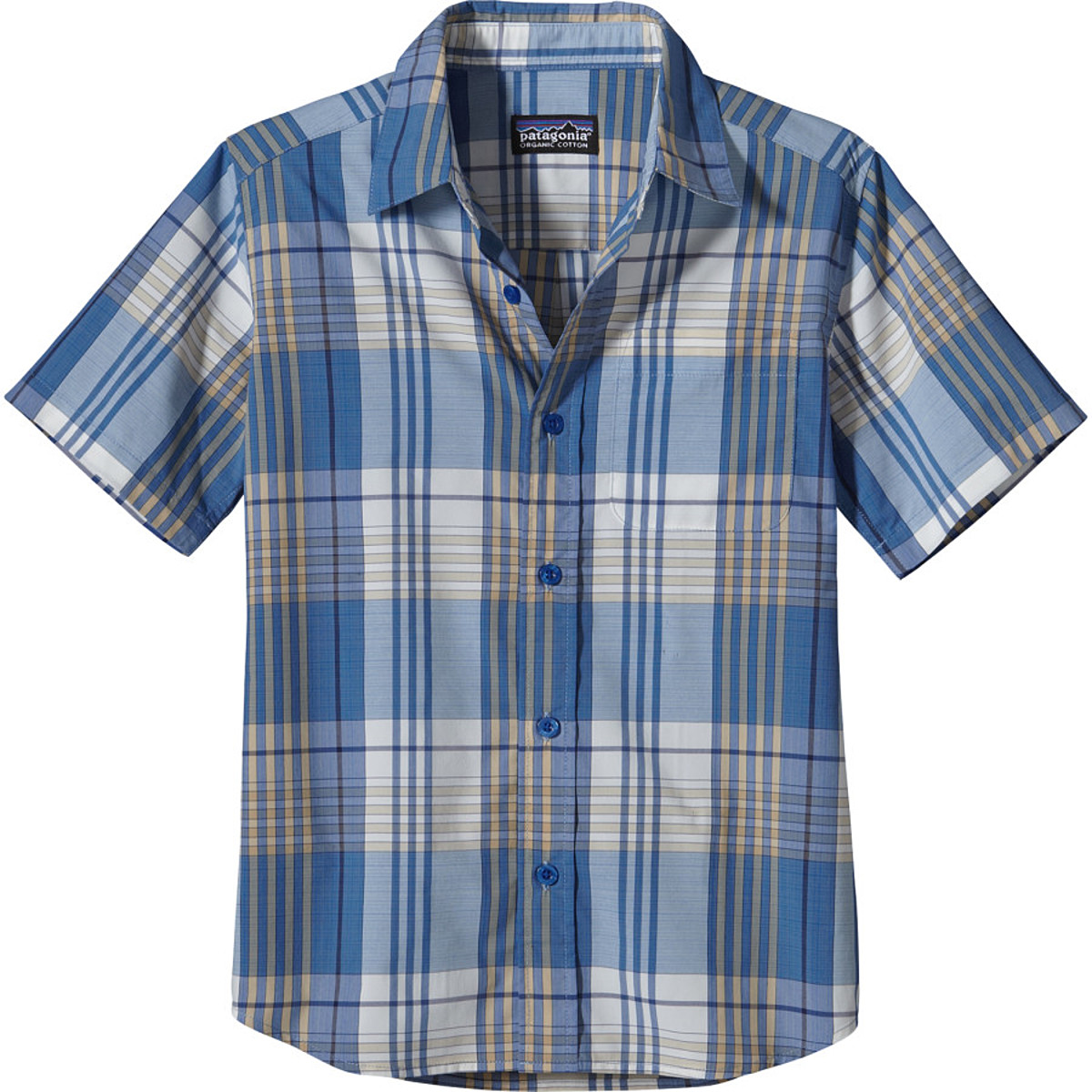 photo: Patagonia Boys' Gone Again Shirt hiking shirt