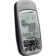 photo: Lowrance IFinder PhD handheld gps receiver