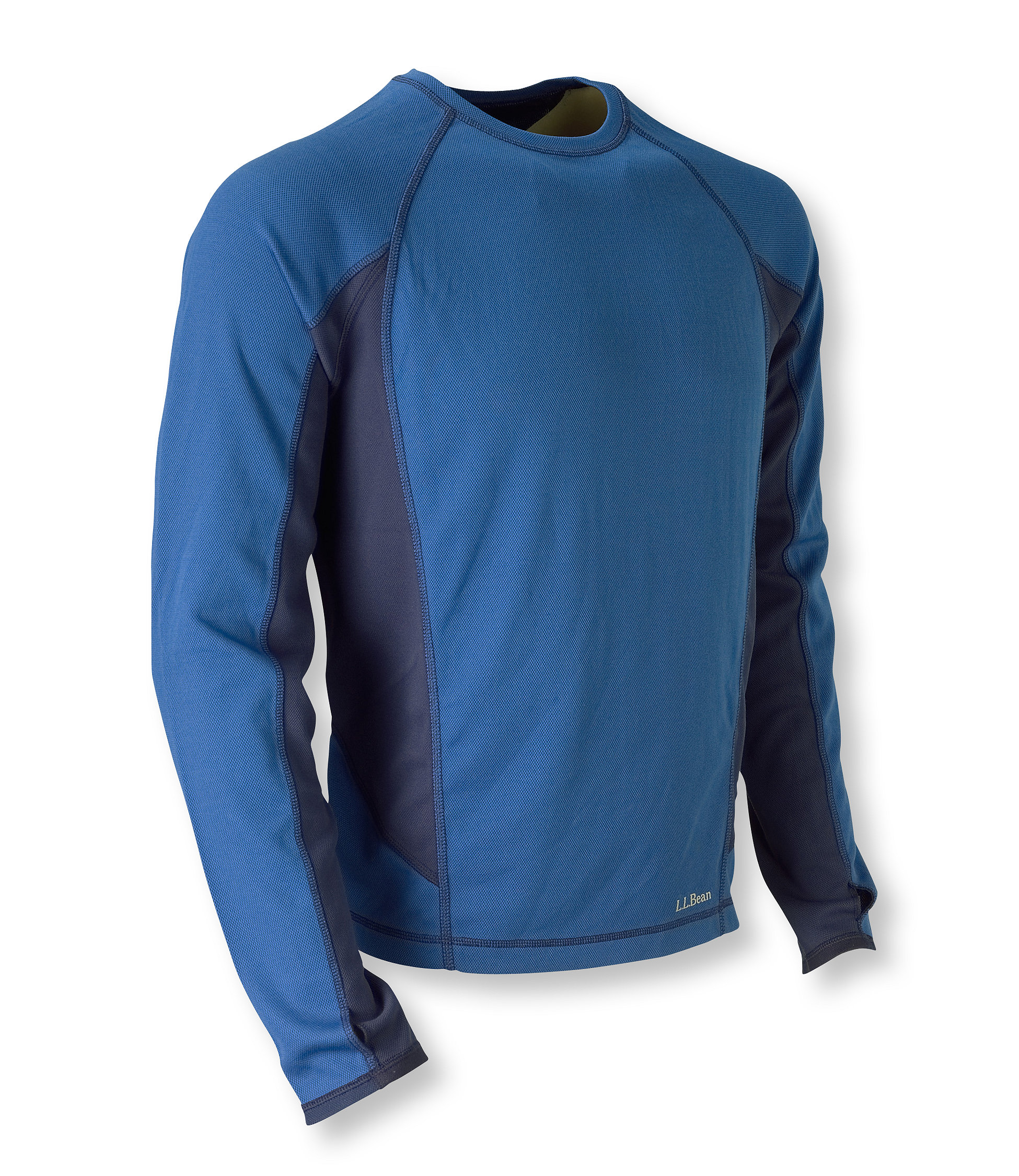 L.L.Bean Polartec Power Dry Base Layer, Crew Midweight