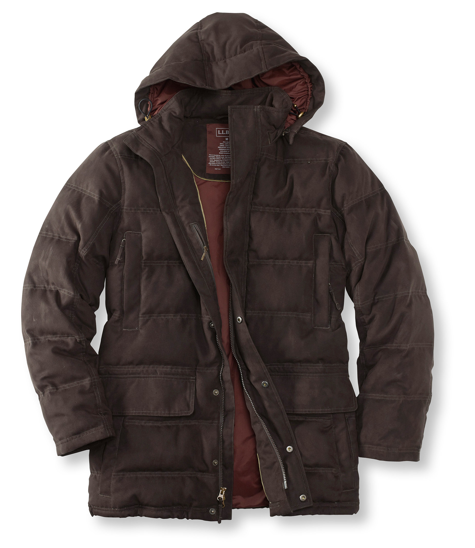photo: L.L.Bean Town and Field Down Hooded Coat down insulated jacket