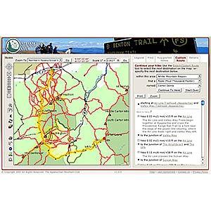 photo: Appalachian Mountain Club White Mountain Guide Online us northeast map application