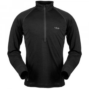 photo: Rab MeCo 165 Long Sleeve Zip Tee base layer top