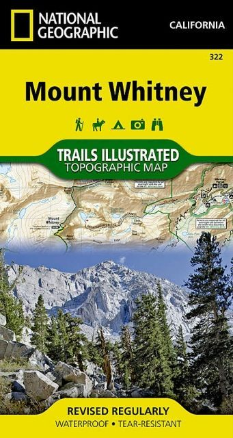 photo: National Geographic Trails Illustrated Mount Whitney Map us pacific states paper map