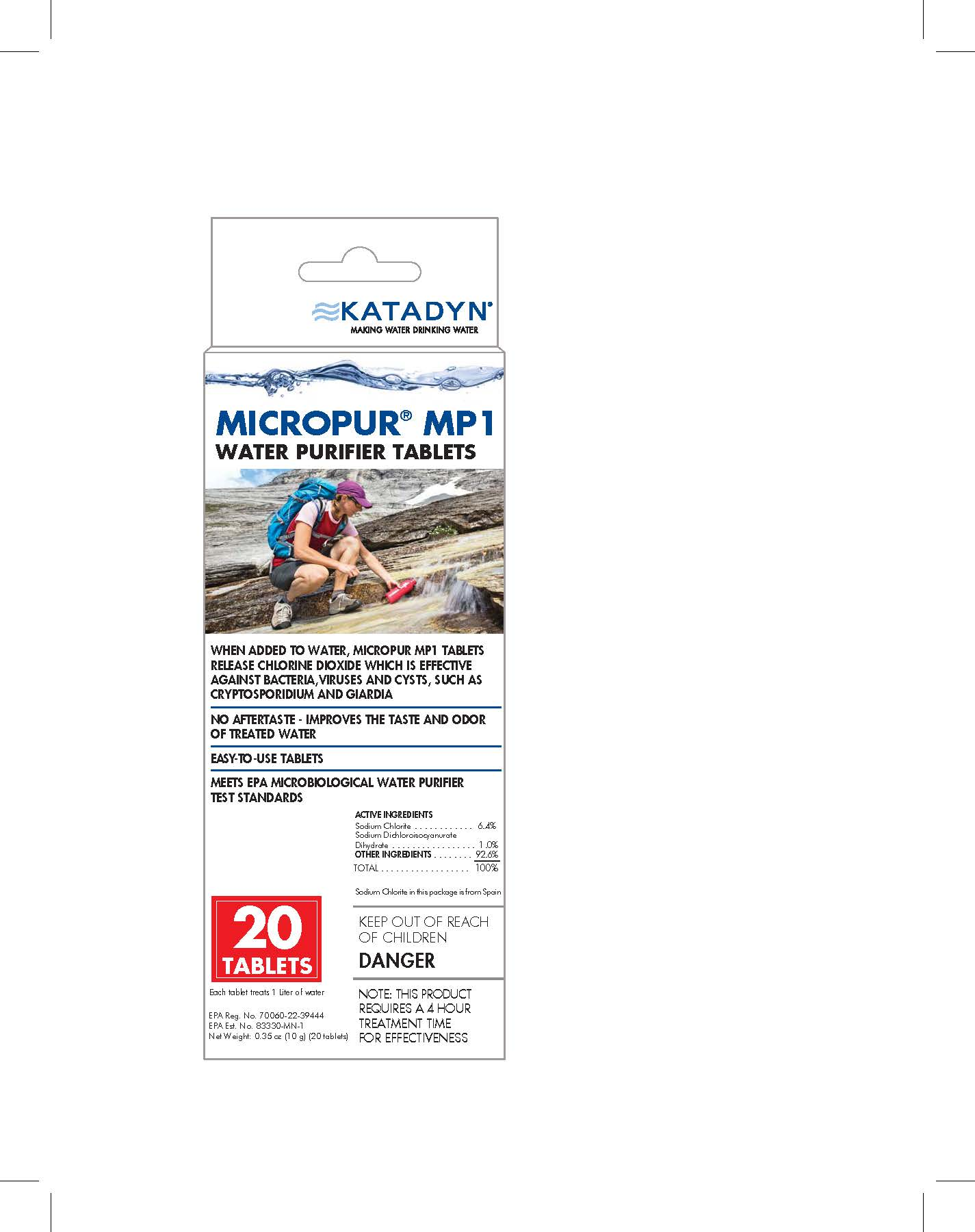 photo: Katadyn Micropur MP1 Purification Tablets chemical water treatment