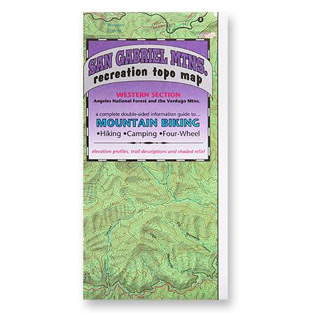 Fine Edge San Gabriel Mountains Recreation Topo Map