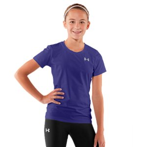 photo: Under Armour Girls' Fitted HeatGear Shortsleeve T Shirt short sleeve performance top