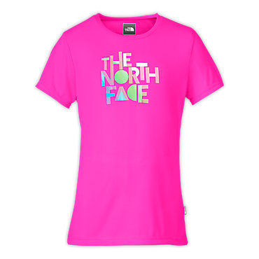 photo: The North Face Girls' Reaxion Graphic Tee short sleeve performance top