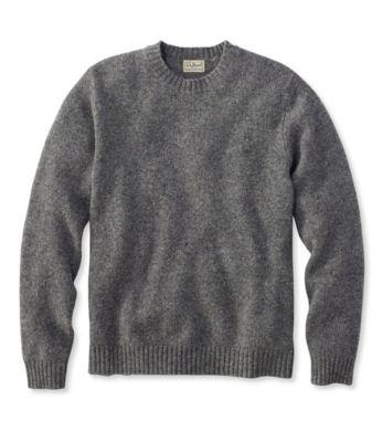 L.L.Bean Shetland Wool Sweater, Crew