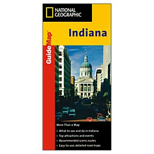 National Geographic Indiana Map