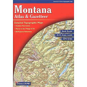 photo: DeLorme Montana Atlas and Gazetteer us mountain states paper map