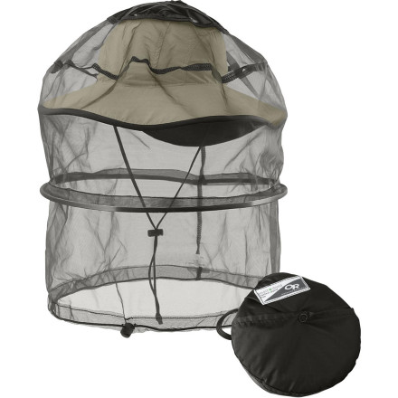 photo: Outdoor Research Sentinel Deluxe Spring Ring Headnet bug net