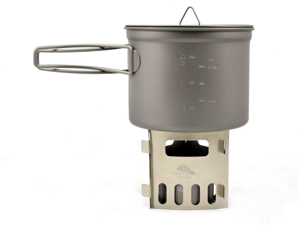 Toaks Titanium Alcohol Stove and 900ml Pot Cook System