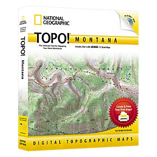 photo: National Geographic TOPO! Montana CD-ROM us mountain states map application