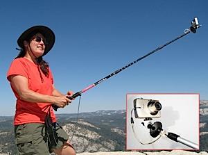 photo of a StickPic trekking pole accessory