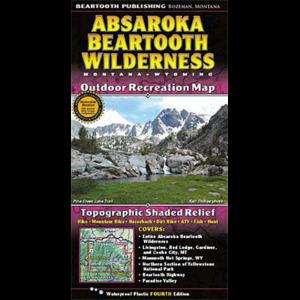photo: Beartooth Mountain Press Absaroka Beartooth Wilderness Map us mountain states paper map