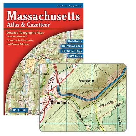 photo: DeLorme Massachusetts Atlas and Gazetteer us northeast paper map
