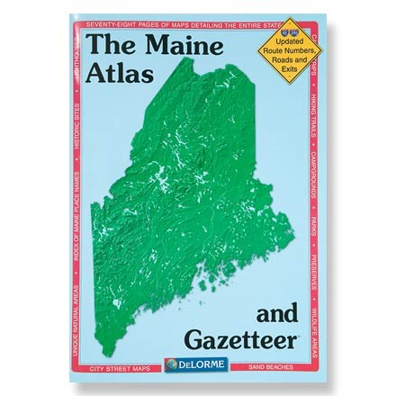 photo: DeLorme Maine Atlas and Gazetteer us northeast paper map