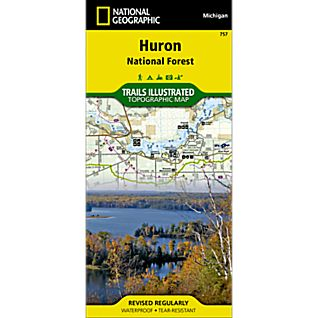 National Geographic Huron National Forest Trail Map