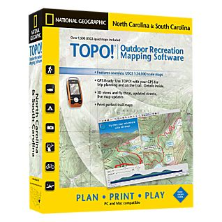National Geographic TOPO! North Carolina & South Carolina CD-ROM
