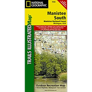 National Geographic Manistee National Forest, South Trail Map