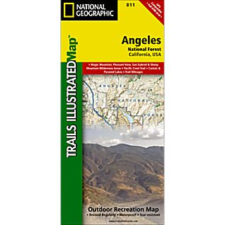 National Geographic Angeles National Forest Trail Map