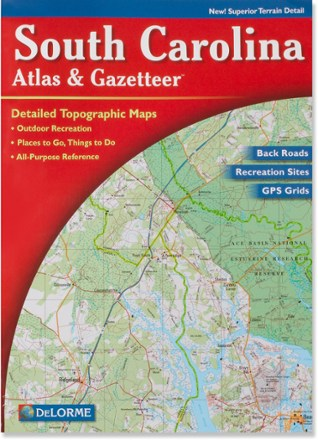 photo: DeLorme South Carolina Atlas and Gazetteer us south paper map