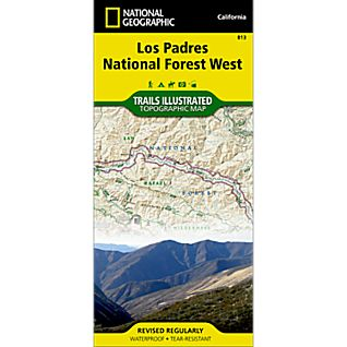 photo: National Geographic Los Padres National Forest, West Trail Map us pacific states paper map
