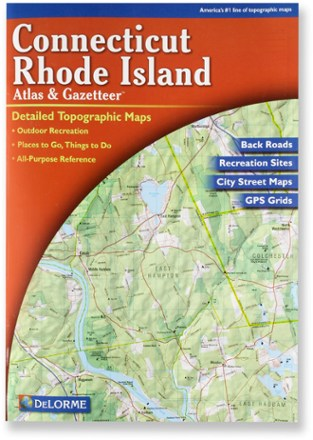 photo: DeLorme Connecticut and Rhode Island Atlas and Gazetteer us northeast paper map