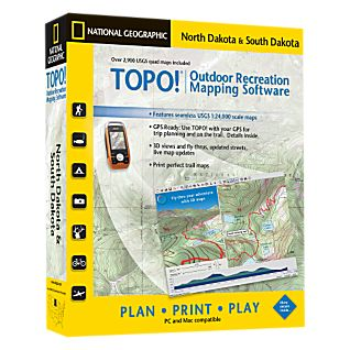 National Geographic TOPO! North Dakota & South Dakota CD-ROM