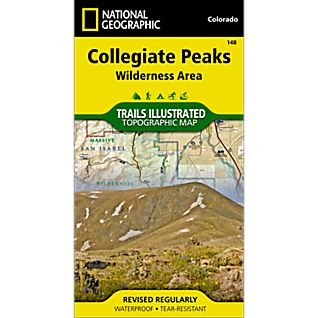 National Geographic Collegiate Peaks Wilderness Trail Map