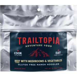 Trailtopia Beef with Mushrooms and Vegetables Ramen Noodles