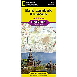 National Geographic Bali, Lombok, and Komodo Adventure Map